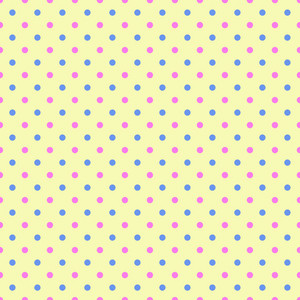 Blue And Pink Polka Dots Pattern On A Yellow Background