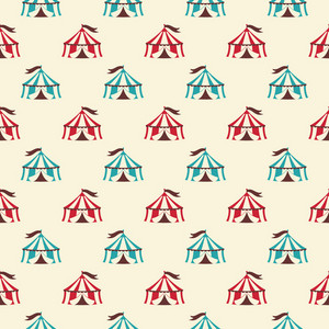Blue And Red Circus Tent Pattern