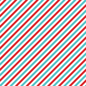 Blue And Red Diagonal Striped Cat And Hat Pattern