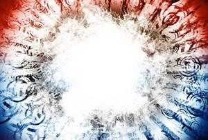 Blue And Red Light Blast