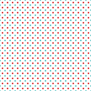 Blue And Red Polka Dots Cat And Hat Pattern