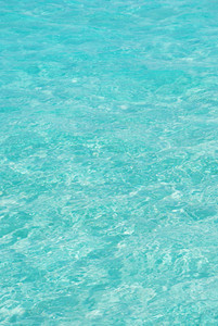 Blue And Translucid Ocean Water From Maldives
