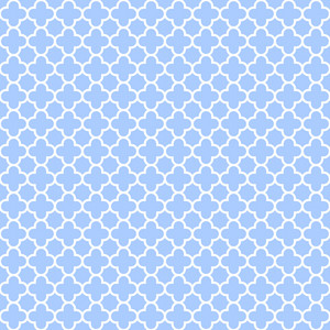 Blue And White Cross Pattern