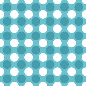 Blue And White Polka Dots Pattern