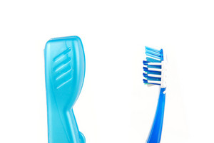 Blue And White Tooth Brush And Case