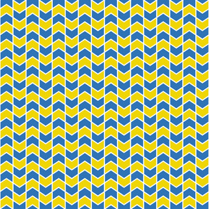 Blue And Yellow Chevron Pattern