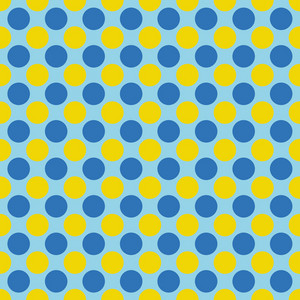 Blue And Yellow Polka Dots Pattern