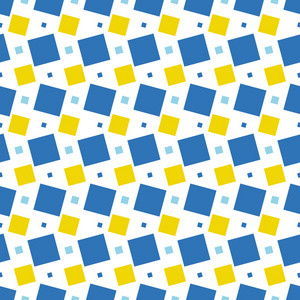 Blue And Yellow Squares Pattern