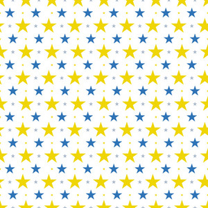 Blue And Yellow Stars Pattern