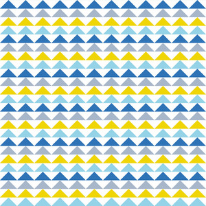 Blue And Yellow Triangles Pattern