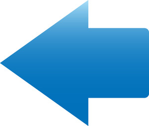 Blue Arrow Sign On White Background