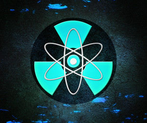 Blue Atom Radioactive Background