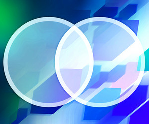Blue Background Business Circles