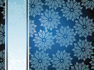 Blue Background With Floral