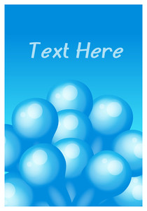 Blue Balloons Greeting Template