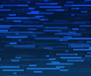 Blue Binary Data Texture