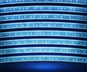 Blue Binary Digital Wall Background