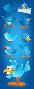 Blue Birds Vectors