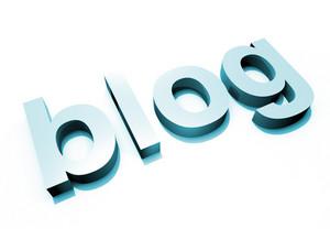 Blue Blog 3d Letter