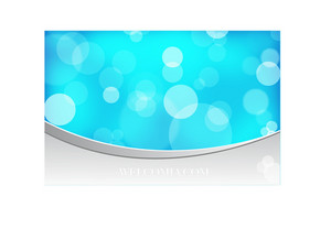 Blue Bokeh Vector