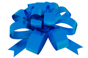 Blue Bow Ornament