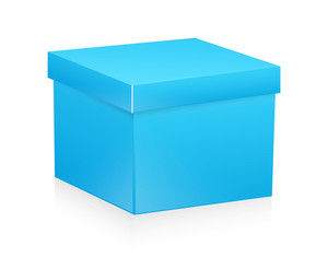 Blue Box Vector Object