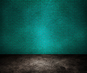 Blue Brick Interior Background