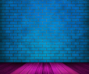 Blue Brick Room Backdrop