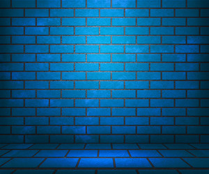 Blue Brick Stage Background