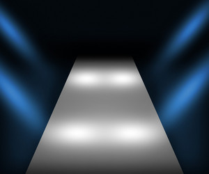 Blue Catwalk Background