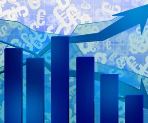 Blue Chart Economic Background