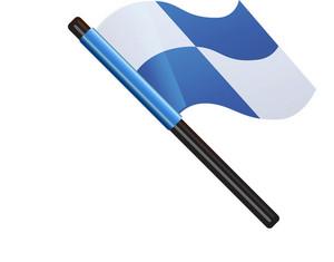 Blue Checkered Flag
