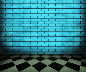Blue Chessboard Interior Background
