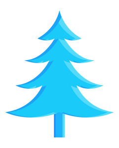 Blue Christmas Tree Shape