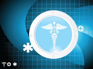 Blue Curve Pattern Medical Symbol Background