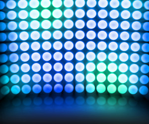 Blue Dance Disco Lights Stage Background
