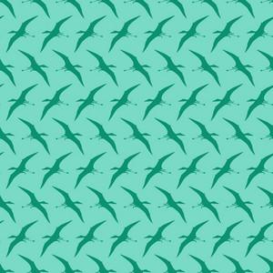 Blue Dinosaur Pattern