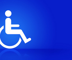 Blue Disability Background