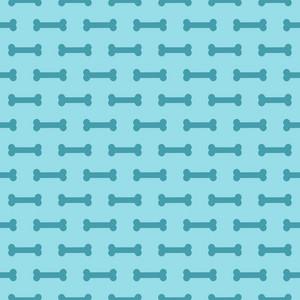Blue Dog Bone Pattern
