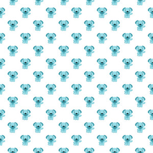 Blue Dog Pattern On A White Background