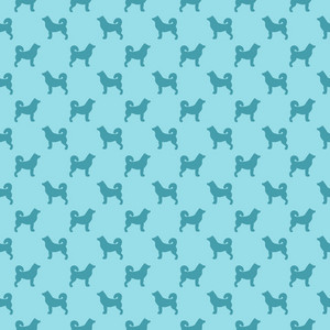 Blue Dog Pattern