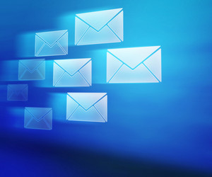 Blue E-mails Abstract Background