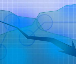 Blue Economic Background Texture