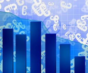 Blue Economic Background