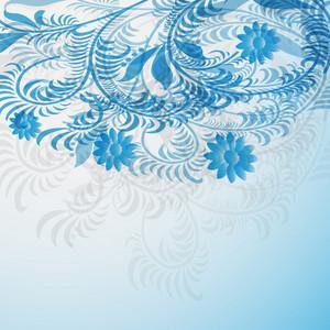 Blue Elegant Floral