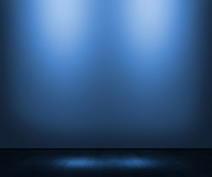 Blue Empty Interior Background
