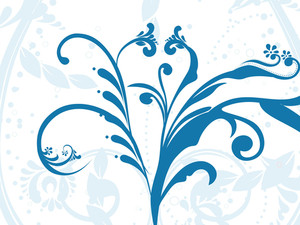 Blue Floral Pattern With Background