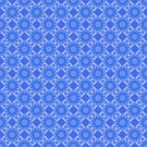 Blue Flourish Pattern