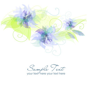 Blue Flower Background-