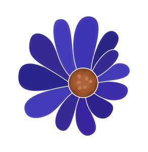 Blue Flower Element Design